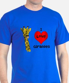 I Love Giraffes! T-Shirt