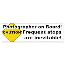 Photographer On Board! Bumper Car Sticker