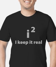 I keep it real Men's Fitted T-Shirt (dark)