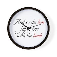 Lion Lamb 2 Wall Clock
