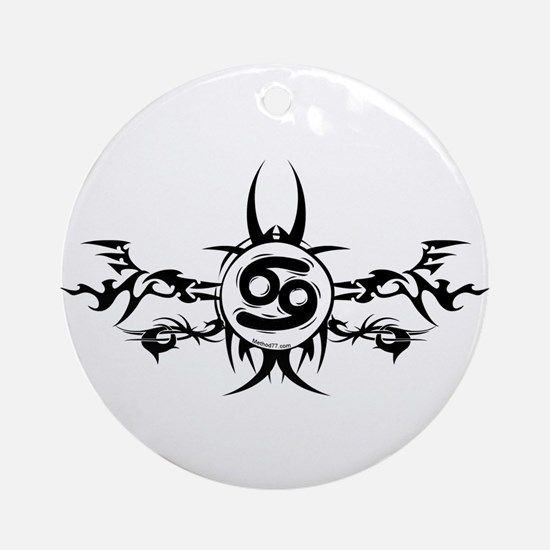 Tribal Cancer Design Ornament (Round)