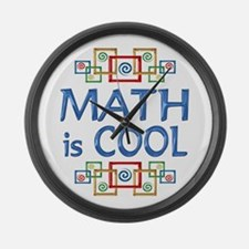 Math is Cool Large Wall Clock