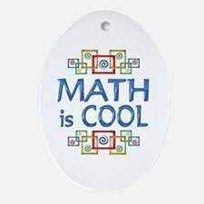 Math is Cool Ornament (Oval)