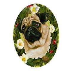 Pug Ornament (Oval)