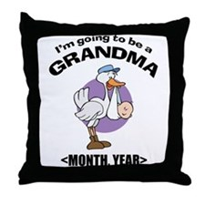 Grandma To Be Personalized Throw Pillow