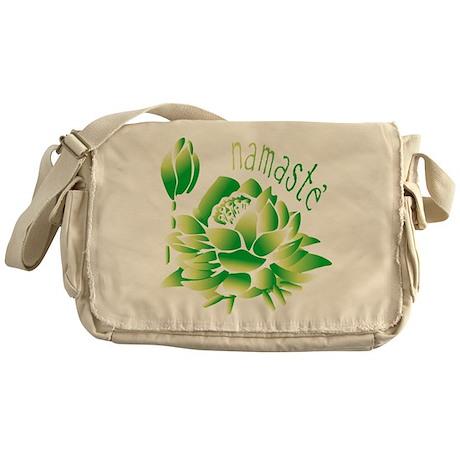 Go Green Lotus Messenger Bag