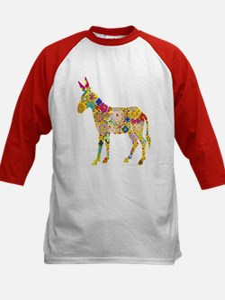 Flower Donkey - Kids Baseball Jersey
