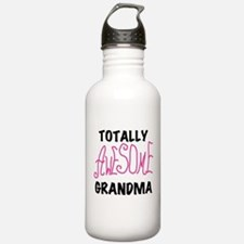 Pink Awesome Grandma Water Bottle