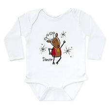 Dancer Reindeer Long Sleeve Infant Bodysuit