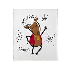 Dancer Reindeer Throw Blanket