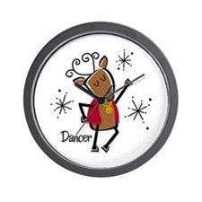 Dancer Reindeer Wall Clock