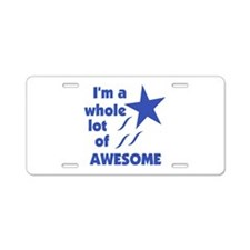 A Lot of Awesome Aluminum License Plate