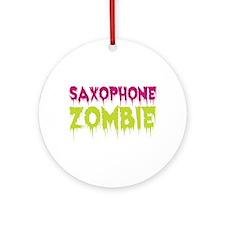 Saxophone Zombie Ornament (Round)