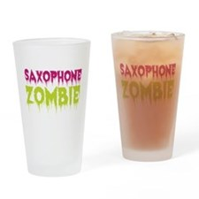 Saxophone Zombie Drinking Glass