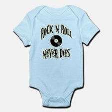 Rock N Roll Never Dies Infant Bodysuit