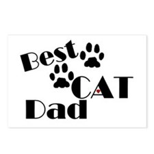Best Cat Dad Postcards (Package of 8)