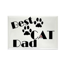 Best Cat Dad Rectangle Magnet