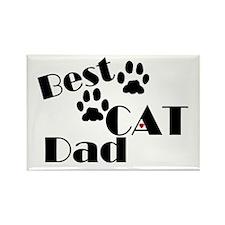 Best Cat Dad Rectangle Magnet (10 pack)