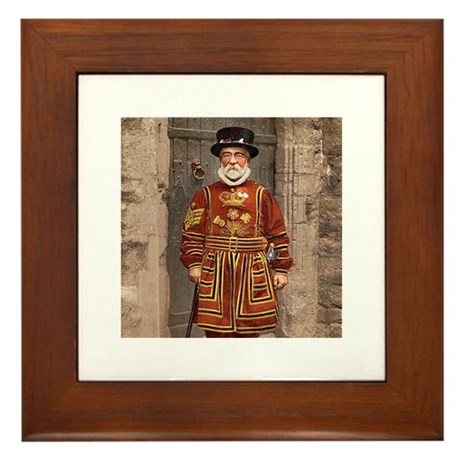 Victorian Yeoman Warder Framed Tile