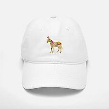 'Flower Donkey' White Baseball Baseball Cap