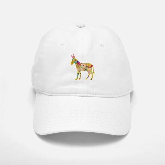'Flower Donkey' White Cap