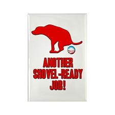 Another Shovel-Ready Job Anti Obama Rectangle Magn