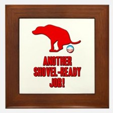 Another Shovel-Ready Job Anti Obama Framed Tile
