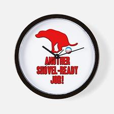 Another Shovel-Ready Job Anti Obama Wall Clock