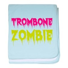 Trombone Zombie baby blanket