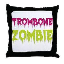 Trombone Zombie Throw Pillow