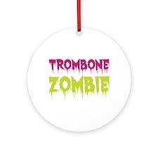 Trombone Zombie Ornament (Round)