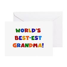 Colors World's Best-est Grandma Greeting Card