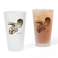 Triceratops Skull Drinking Glass