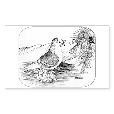 Saxon Shield Pigeon 1973 Sticker (Rectangle 50 pk)