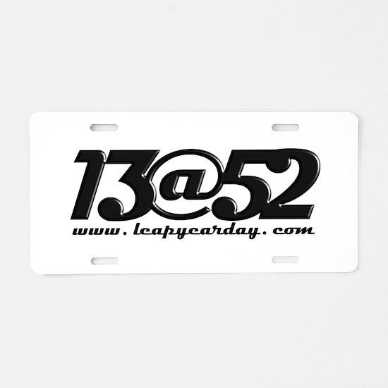 13@52 Aluminum License Plate
