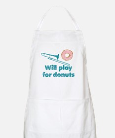 Will Play Trombone for Donuts Apron