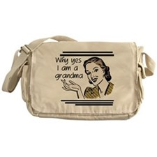 Retro Grandma Messenger Bag