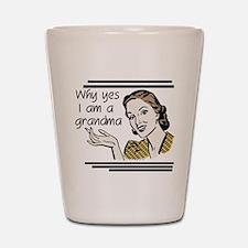 Retro Grandma Shot Glass