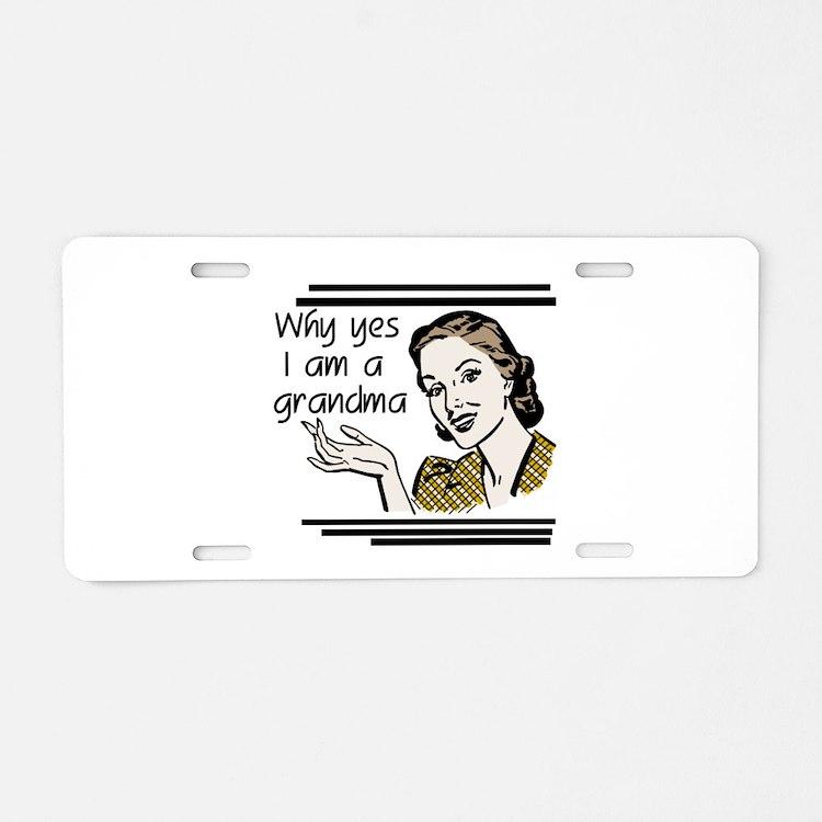 Retro Grandma Aluminum License Plate