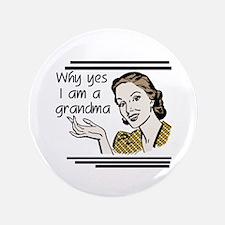 """Retro Grandma 3.5"""" Button"""