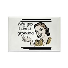 Retro Grandma Rectangle Magnet