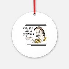 Retro Grandma Ornament (Round)