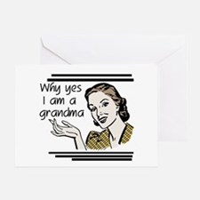 Retro Grandma Greeting Card