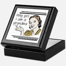 Retro Grandma Keepsake Box