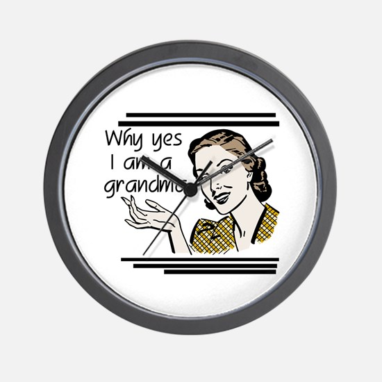 Retro Grandma Wall Clock