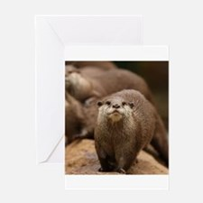 Otters Greeting Cards
