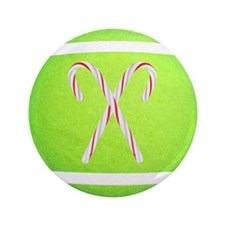 "Christmas Tennis Ball 3.5"" Button (100 pack)"