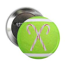 """Christmas Tennis Ball 2.25"""" Button"""