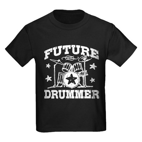 Future Drummer Kids Dark T-Shirt