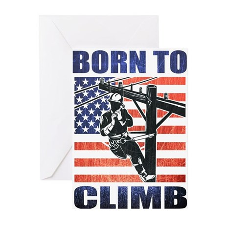 power lineman electrician Greeting Cards (Pk of 10